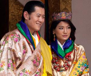 Bild König Jigme Khesar mit Königin Jetsun Pema