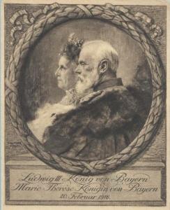 Gemälde zur Goldenen Hochzeit des Paares 1918